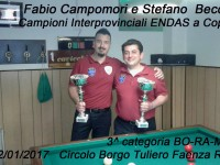 Campionato Interprovinciale a Coppie 3 categoria BO-RA